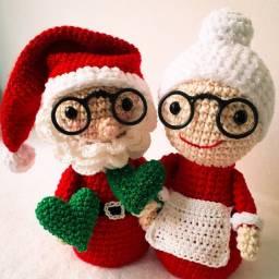 Papai e mamãe Noel de crochê