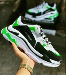 Tênis Balenciaga White Green
