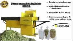 Maquina para prensar e embalar silagem