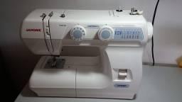 Máquina De Costura Janome 2008p 14 Pontos Branca 110 v