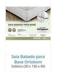 Saia para cama box solteiro ortobom - Nova