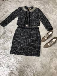 Conjunto em lã com sapato