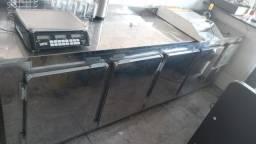Freezer 4 portas balcão de parede
