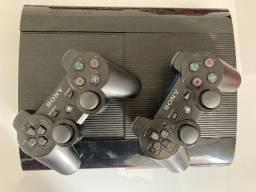 Playstation 3 Slim 465GB + 32 Jogos + 12 filmes