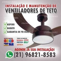 Instalação e Manutenção para ventilador de teto.