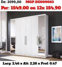 Título do anúncio: Guarda Roupa Casal 06 Portas com Espelho-GR-Roupeiro-Armario-Liquida em MS