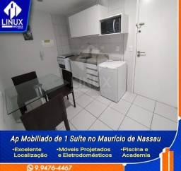 Título do anúncio: Apartamento Mobiliado para Alugar de 01 Suíte com 31 m², no Maurício de Nassau, Caruaru/PE