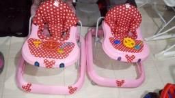 Andadores da Minnie iguais p/ Gêmeos cm estofados reformado novos bem confortáveis