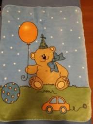 Cobertor infantil pelúcia 1,10 x 0,90