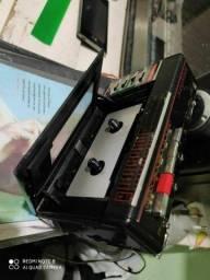 Rádio gravador antigo broksonic