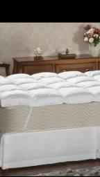 Pillow top queen Plumasul 100% pluma de ganso