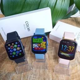 Lançamento! Smartwatch Colmi P8 Plus Preto/Rose Gold/Azul oferta!!!