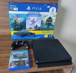 PS4 Slim 1TB Impecável (Parcelo no Cartão)