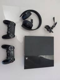 Ps4 500gb + 2 Controle + Headset Original + Jogos