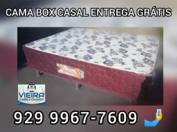 cama box casal espuma  entrega gratis }}}}-~~