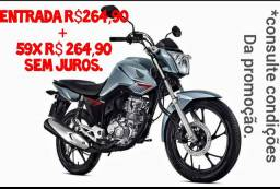 Fan 160cc entrada R$264,90 mais 59xR$264,90