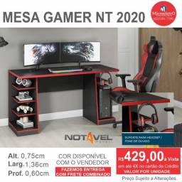 Mesa Gamer Nt 2020 cor preta e vermelho