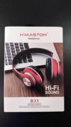 Headphones H'Maston B33 Hi-Fi Sound Sem Fio (Aceito cartão)