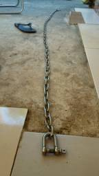 Corrente inox com anilha 2 metros