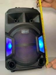 Caixa de Som 2000W Bluetooth + Microfone sem fio!