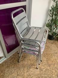 4 cadeiras de alumínio