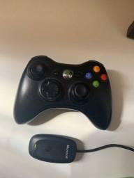 Manete de Xbox 360 + Reciver para o computador original