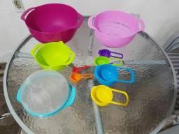 Lindo conjunto bowls com 10 peças novo