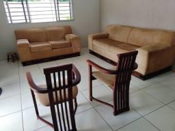 Conjunto de sofá 5 lugares.