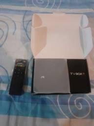 Título do anúncio: TV Box Semi Nova Na Caixa