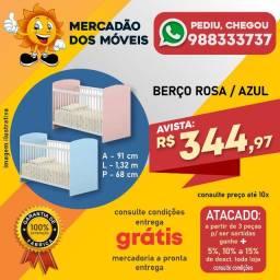 Berço Simples Rosa/Azul Super Barato!!!