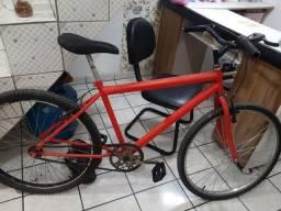 Bicicleta cor vermelha ario 26
