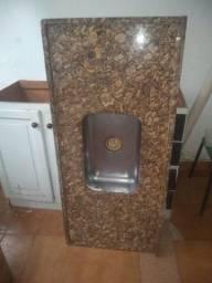 Pia de cozinha mármore 1,20x 0,55