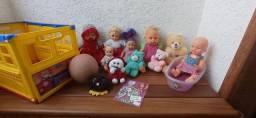 "Lote de Brinquedos( Bonecas e Pelúcias)-R$50,00 "" juntos ""<br><br>"