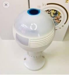 Câmera Lâmpada Espiã Ip Wi-fi 360