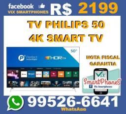 Smart TV Philips 50 4K nota e garantia  /*hwbye