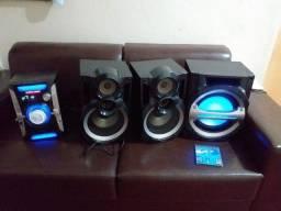 micro system 300 watts panasonic potente 500 reais