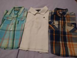3 camisas bebê 9 a 12 meses