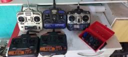 5 rádios aeromodelos