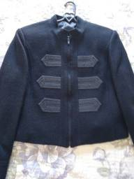 Jaqueta em 100% lã preta M