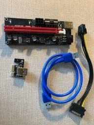Cabo Riser Pci-e Express V009s Usb 3.0 Placa Video Mineração