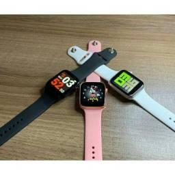 Relógio smartwatch iwo x8 unissex na cor PRETA: