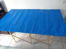 Banca / mesa Camelô Sanfonada em Madeira Nova