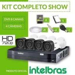 Kit 4 câmeras Intelbras + acesso remoto e instalação inclusa 1.200