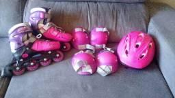 Roller Patins + Kit de Proteção