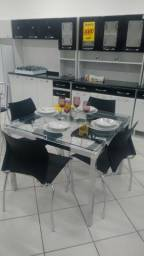 Conjunto de mesa quatro Cadeiras