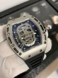 f57a2045c4e Relógio Richard Mille Skull Titanium. Até 10x sem juros