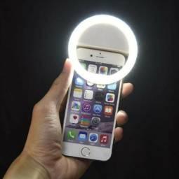 Luz Led Selfie Ring Light Clipe Flash Celular Universal Nova na Caixa
