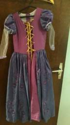 Fantasia Rapunzel Tamanho 6 anos