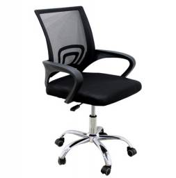 Cadeira tela escritório base giratória com rodinha entrego e monto