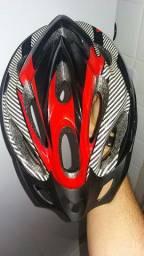 Capacete para bike com luz adaptada